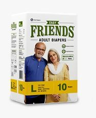 ADULT DIAPER FRIENDS EASY LARGE   10S