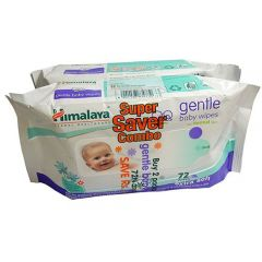 Himalaya Gentle Baby Wipes Super Save Combo 2*72's